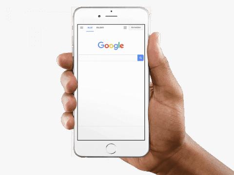 Google Suchfeld am Iphone